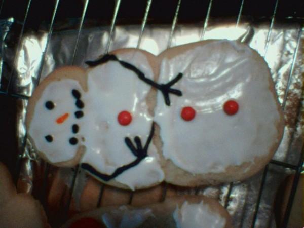 Xmas Snowman Cookie