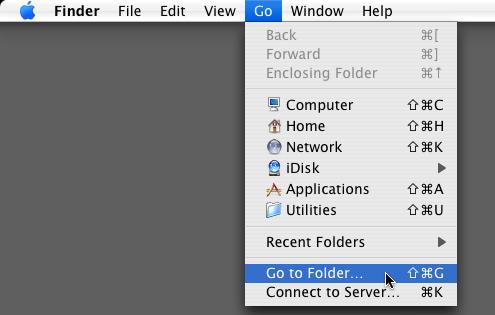 Finder > Go > Go to Folder…