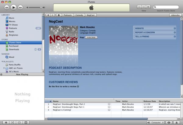 NogCast on iTunes