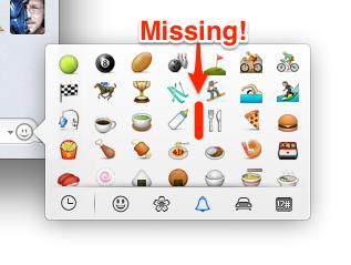 Missing Emoji