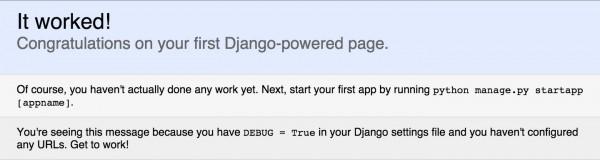 django-it-worked